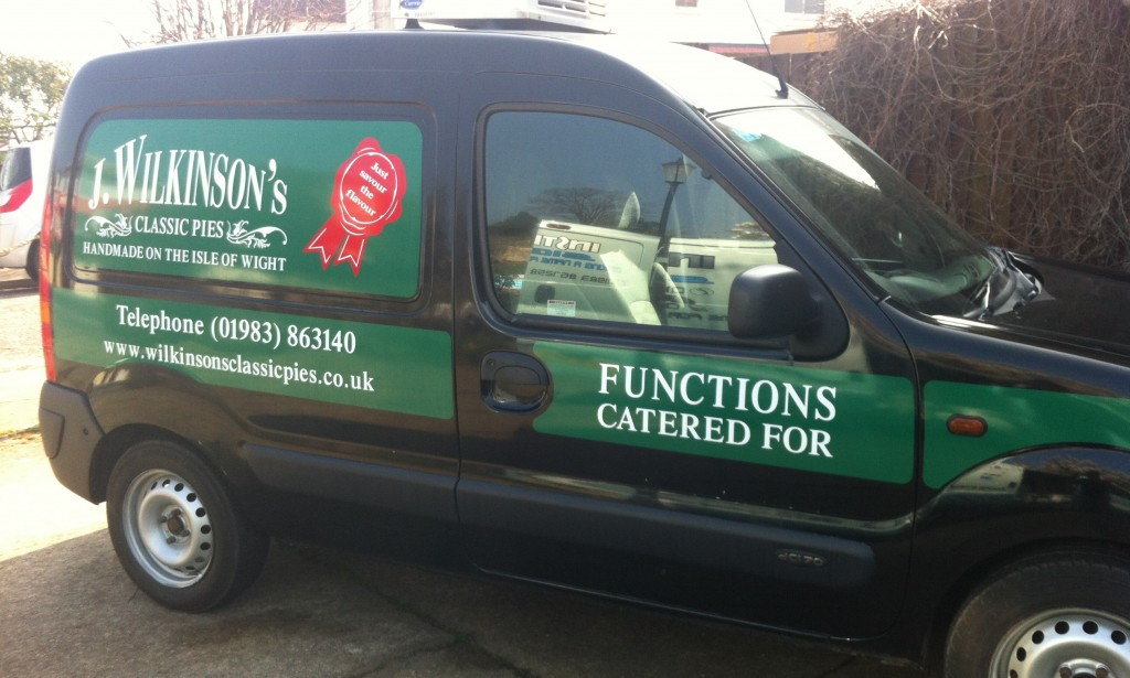 Small van sign writing