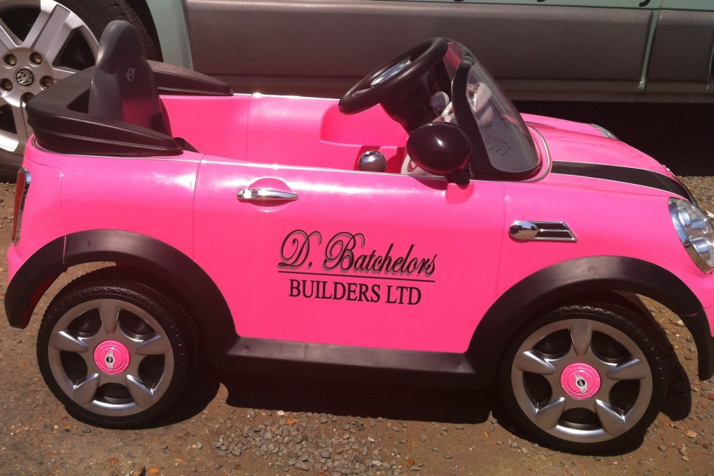 Kids car sign writing