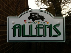 Allens house nameplate