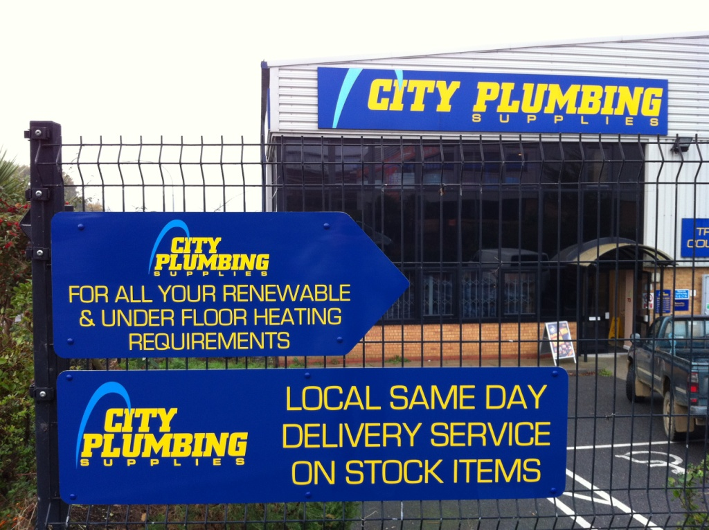 City Plumbing approach signs