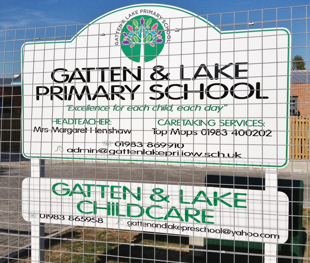 Isle of Wight school signage
