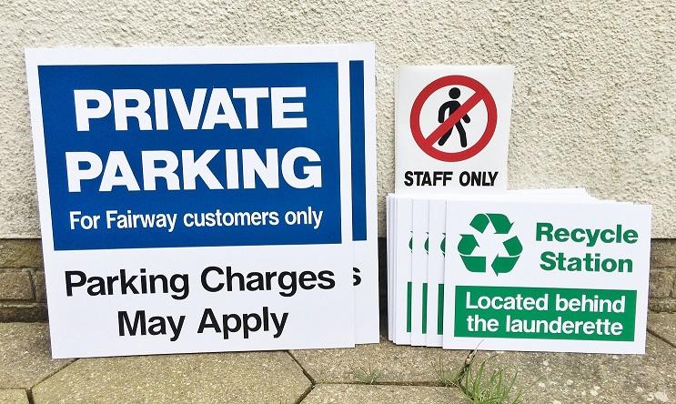 Signage for a popular caravan park
