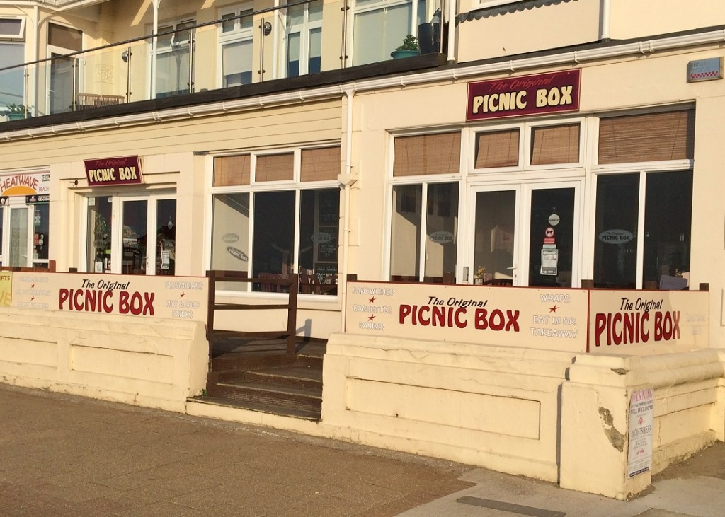 All new signage at a popular seafront cafe