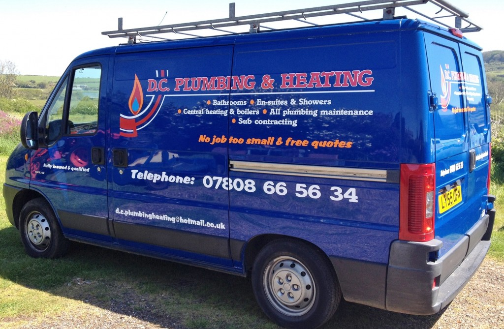 Multi colour van lettering