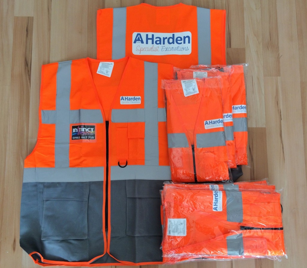 Custom printed high viz clothing