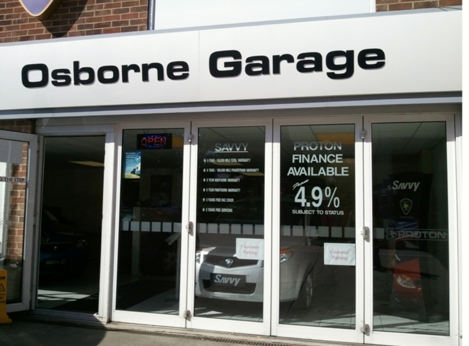Osborne showroom frontage