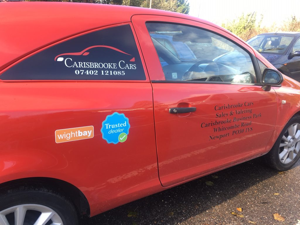 Isle of wight vehicle graphics signs for boats cars vans iow